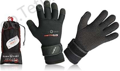 Перчатки для дайвинга thermo kevlar aqua lung