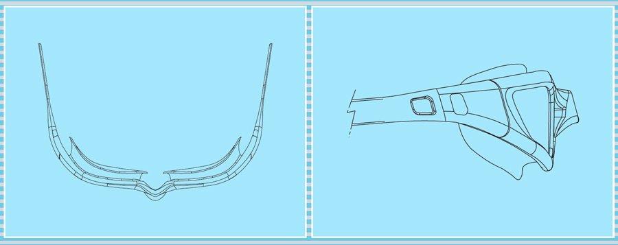 Итальянские детские очки для плавания Kameleon Kid. от 3-х лет