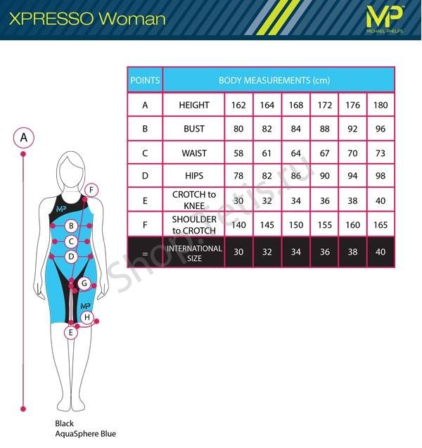 Таблицы размеров стартовых костюмов MP