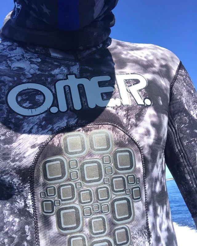 Гидрокостюм для подводной охоты Black Stone OMER, комплекты с короткими штанами 5 и 7 мм, открытая пора, неопрен Sheico