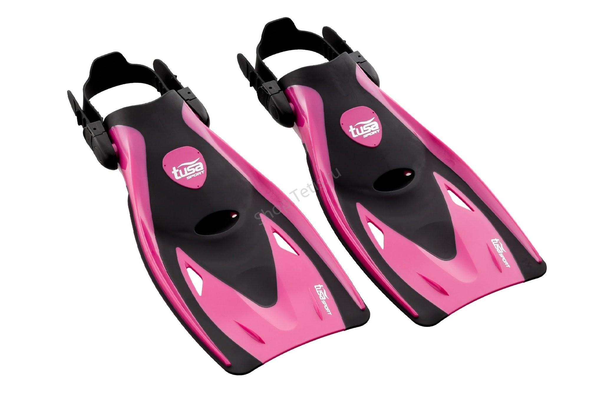Ласты короткие регулируемые для плавания Tusa Sport Black Series